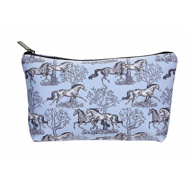 AWST Lila Blue Toile Pouch  image number null