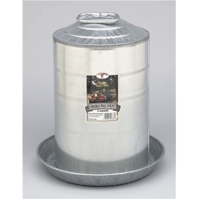 Little Giant 3 Gallon Double Wall Poultry Waterer image number null