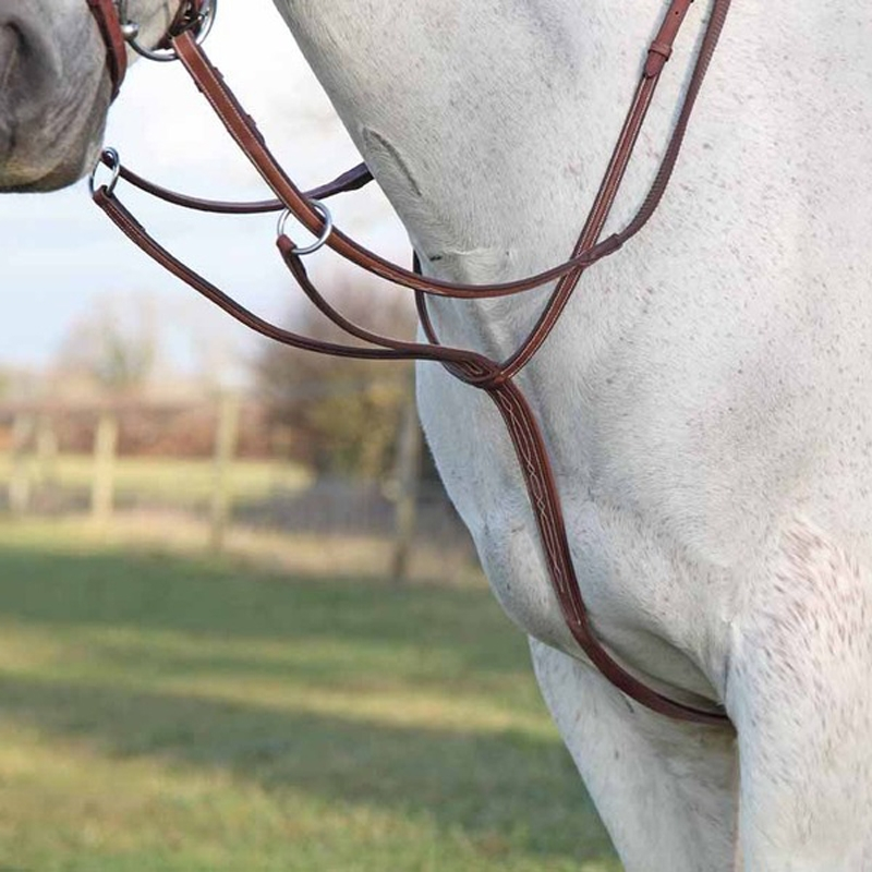 Details about  /5/'/' Equestrian Polished Rustless Horse Bit With Curb Chain And